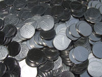 1000 Silver Tokens - Used (Pachislo / Slot Machine / Arcade)